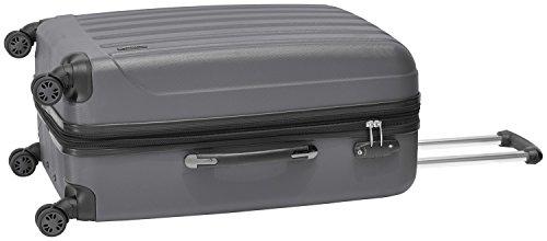 Packenger Velvet Koffer, Trolley, Hartschale  L in Grau.   50x34x23cm -