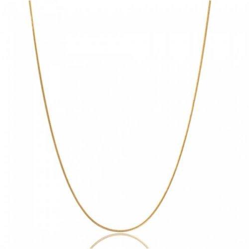 e 1.5 MM 025 Gauge Für Damen Halskette 14K Vergoldet Sterling Silber Hergestellt In Italien 14 Zoll ()
