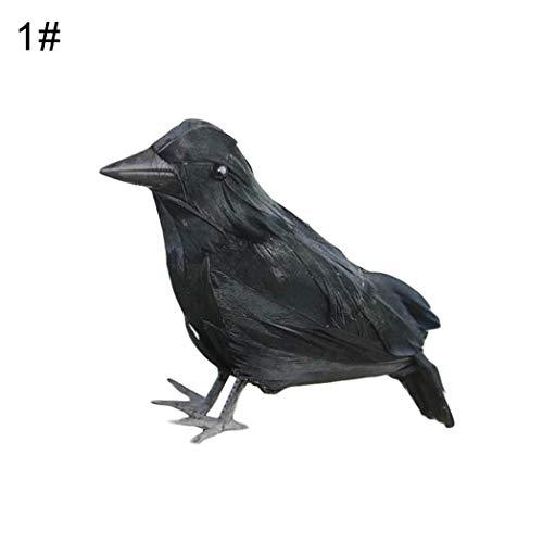 DeYL Halloween Dekoration Fischgrätenartig realistisch Ravens Modell Raven Halloween Dekoration Prop-Hausgarten-Terrasse - 1# -