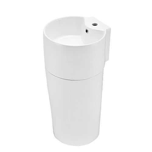 [neu.haus] Lavabo in Ceramica [42x40x82cm] Bianco lavabo in Piedi con Colonna