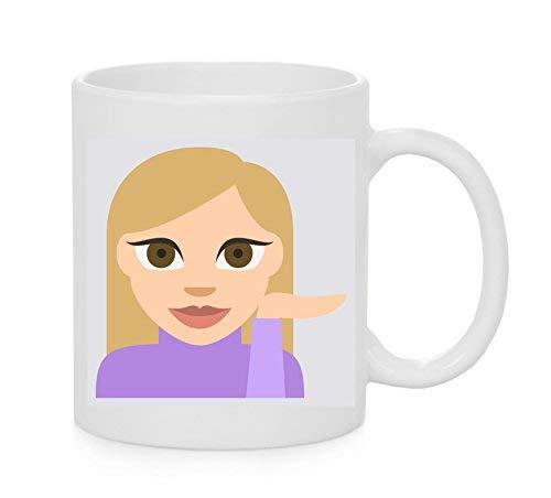Emoji-Becher Informations-Schreibtisch Person Tone 2 Emoji - 2-ton-schreibtisch