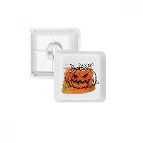 (Handbemalt Kürbis des Halloween PBT Tastenkappen für Mechanische Tastatur Weiß OEM-Nr. Markieren Print Mehrfarbig Mehrfarbig R1)
