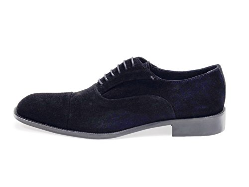 2059d3bbb DANIEL JACOB Chaussures Homme.Suede Oxford Noir. Semelle en Cuir.