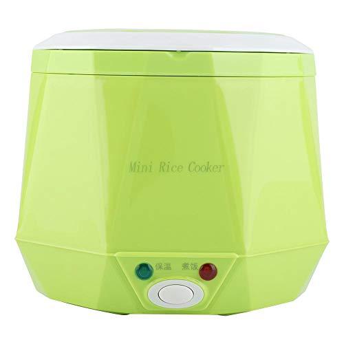 1.6 L Mini Reiskocher Elektrische Lunchbox Mini Electric Pot Tragbarer Multifunktionskochtopf Dampfgarer mit Antihaft Innentopf für truck Einsatz, 24V 140W(Grün)