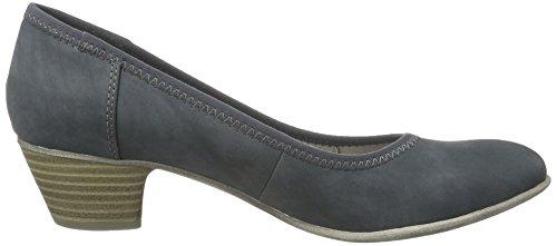 s.Oliver 22301, Chaussures à talons - Avant du pieds couvert femme Bleu (DENIM 802)