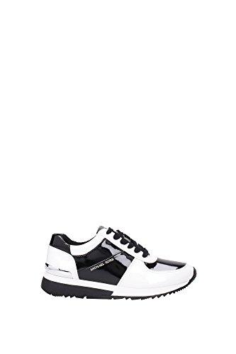 43T5ALFP1AOPTICWHTBLK Michael Kors Sneakers Femme Cuir Verni Blanc Blanc