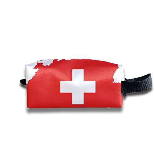 Karte Und Flagge Der Schweiz Kosmetiktaschen Organizer Tragbare Tasche Trapez Lagerung Kosmetiktasche