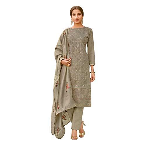 Chanderi 7641 Muslimische Hose aus Baumwolle, indischer Druck, Salwar Kameez -