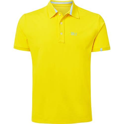 Sportkind Jungen & Herren Tennis/Golf/Sport Poloshirt, gelb, Gr. 128