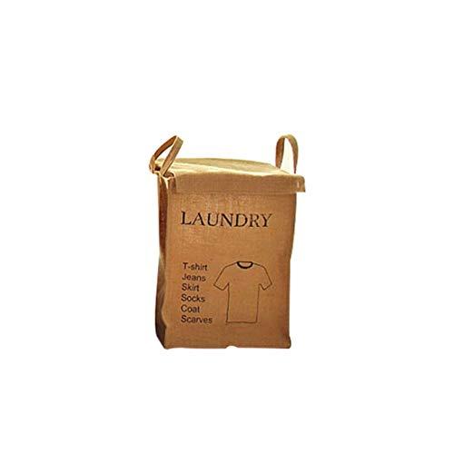4-korb-speicher-warenkorb (ZXXFR Aufbewahrungsbox Jute Schmutzige Wäsche Wäschekorb Verbrauchsmaterialien Speicher Warenkorb Desktop Storage Bag Für Spielzeug Waschmaschine Korb, Design 4)
