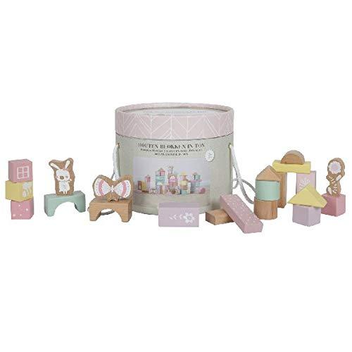 LITTLE DUTCH 4412 50 Holz-Bauklötze in Box adventure pink