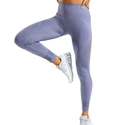 Asalinao Leggings für Damen-Yoga-Hose mit hoher Taille und ausgehöhlter Taille. Freizeit-Laufhose (Junioren Taille Für Mit Hose Hoher)