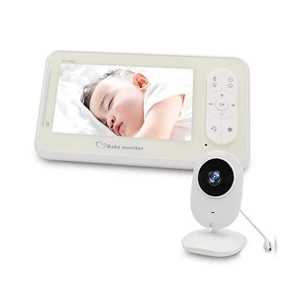 "Video Baby Monitor Camera and Audio Baby Monitor' 4.3"" Two Way Baby Monitor Video with Temperature Sensor Auto Night Vision Baby Monitor Long Distance XinXuan Direct 【Highly Recommended】:Video Baby Monitor Is The Best Choose For You To Take Care The Baby.No Matter You Are In Any Corner Of The Home ,You Can Check The Kid's Situation Through The Baby Monitor At Any Time. 【Night Vision & Temperature Monitoring】:This Digital Video Camera Has 8 Infrared Led Lights, Which Can Be Used During The Day And Night;Video Digital Baby Camera Is Equipped With Temperature Sensors To Monitor The Health Of The Baby At Any Time 【4.3""LCD Display & 2-Way Talk】4.3"" Color High Resolution Display To Watch Baby,The Monitor Can Be Carried Or Hang The Monitor The Waist; When The Child Is Awake Or Playing Noisily ,It Can Communicate With The Baby Quickly . So That The Child Can Hear The Parent's Voice In The Fastest Time, Best Baby Video Monitor 1"