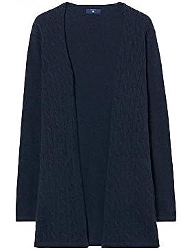 Gant Women's Women's Navy Woven Cardigan Wool