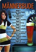 Preisvergleich Produktbild Männerbude Blechschild 20x30 cm Schild Sign Blechschilder Bauer Bier