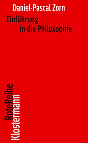 Einführung in die Philosophie (Klostermann RoteReihe)