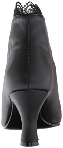 Pleaser Damen Jenna-105 Stiefel Black (Blk Faux Leather-Lace)