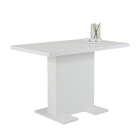 Säulen Esstisch in Weiß 110 cm Pharao24