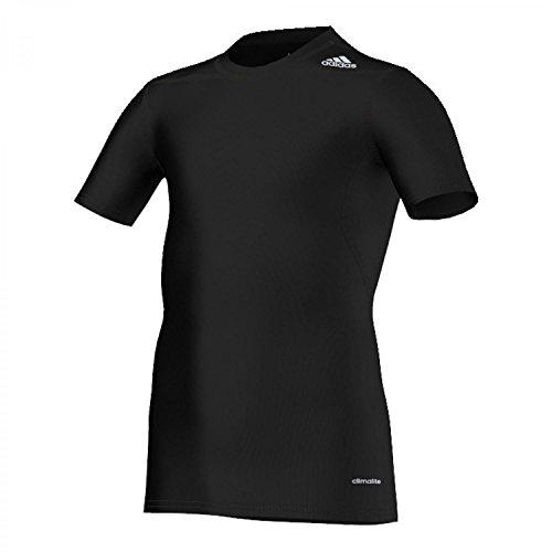 Adidas Funktionsshirt Techfit Base Tee Kurzarm Kids Schwarz, OscWare_AdiTexK:176