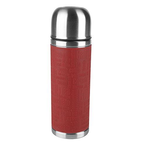 Emsa 515712 Isolierflasche, Mobil genießen, 500 ml, Safe Loc Verschluss, Rot, Senator Manschette