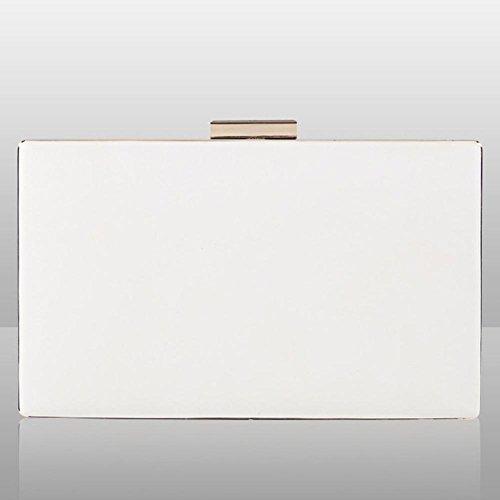 frauen kupplungen geldbörsen taschen blumen leder umschlag perle geldbörse abend handtasche. 20 x 12 cm white