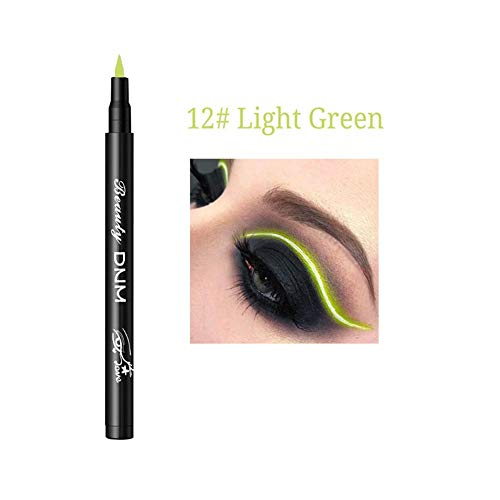 Wovemster Color Liquid Eyeliner Pen Durable Waterproof Anti-Allergic Long-Lasting Anti-Smudge Smooth...
