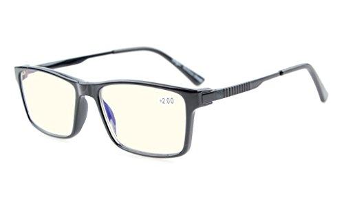 Eyekepper Noline Bifocal Multifocus-Gläser Lesegläser Blendschutz (Gelb getönte Objektive, Schwarzes), optisches Zentrum ungefähr +0.85 (Aufkleber ist +1.00)
