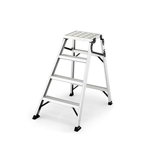 XINGZHE Escalera escalonada de Aluminio Escalera con Plataforma Escalera Plegable de ingeniería Inicio Escalera de Escalada de Doble Uso y Uso múltiple multifunción (Size : 67X97X100CM)