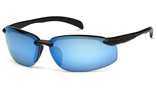Venture Gear vgsb1165db Waverton Sicherheit Gläser, schwarz Rahmen/Ice Blau Spiegel Objektiv