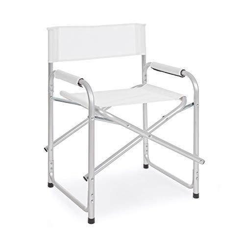 ARREDinITALY Lot de 6 chaises de Jardin Pliantes en Aluminium et textilène Bleu