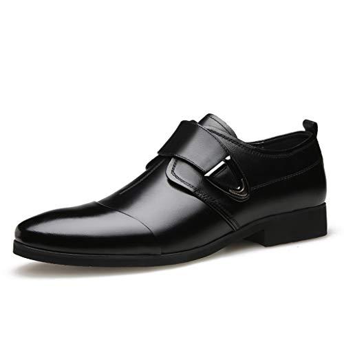 FNKDOR Schuhe Herren Spitz Geschäft Lederschuhe Lackleder Berufsschuhe Britischer Stil Freizeit Kleid Schuhe Business-Schuhe Schwarz 43 EU (Kleinkind Schuhe Elfenbein Kleid)