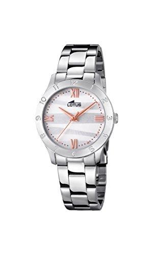 Lotus Watches Reloj Análogo clásico para Mujer de Cuarzo con Correa en Acero Inoxidable 18138/4