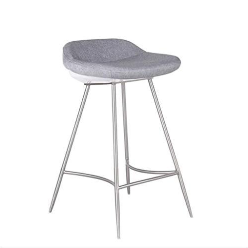 Barhocker Vintage hohe stühle Hohe Bar Stuhl Edelstahl Moderne Stuhl Mode Schwamm Material Komfortable Counter Beauty Massage Stuhl (Color : A) -