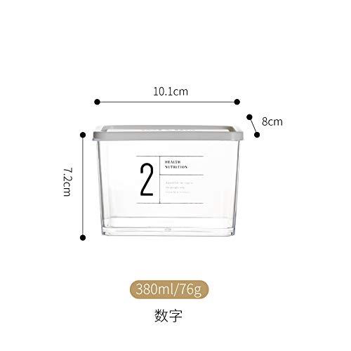 Tanque almacenamiento Contenedor grano,Latas selladas de plástico transparente hogar refrigerador cocina alimentos almacenamiento caja de almacenamiento caja de almacenamiento, digital