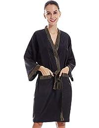 YUENA CARE Bata de Masaje en SPA Bata de Kimono para Salón de Belleza, Vestidos