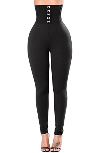 Aranmei Sport Leggings Damen Yoga Leggings Schwarz High Waist Hose Skinny Stretch Fitness Hose(Hohe Taille,Small)