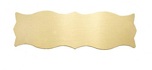 Form Türschild in Stabiler Ausführung Messing 125 x 40 x 1 mm mit wunsch Gravur