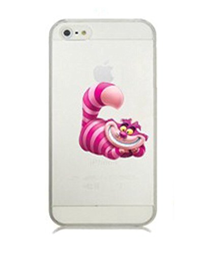 Phone Kandy® Clear/Transparent klar/durchsichtig Hard case for iPhone Cartoon Hülle Abdeckung Haut tascen (iPhone XR, Cheshire Cat) Cat Hard Case