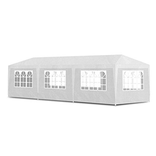 vidaXL Carpa pabellón para eventos y fiestas 8 paredes blancas 3x9m