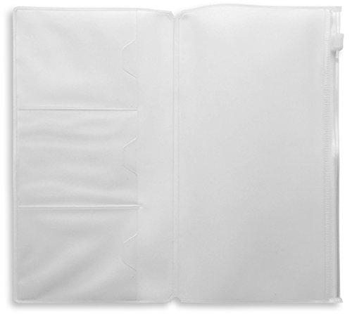 3 Ranuras para Tarjetasde Pl/ástico//Ranura Larga Cremallera Cremallera Bolsa Paquete de Recambio Travelers Notebook 21x11cm Inserto de Pvc Transparente con Cremallera para Cuadernos De Viajeros
