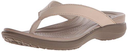 crocs Damen Capri V Flip Pantoffeln, Beige (Chai/Walnut 27L), 41/42 EU