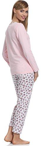 Merry Style Pigiama per Donna 211 Rosa-2A