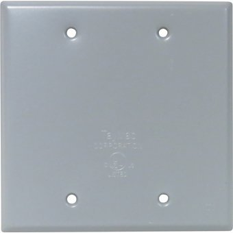 Weatherproof Box Cover - 2G Blank by Mulberry Metal Products 2g Cover