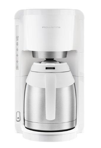 Rowenta CT3811 Adagio Thermo Kaffeemaschine Edelstahl, 8 bis 12 Tassen 1.25 L, weiß