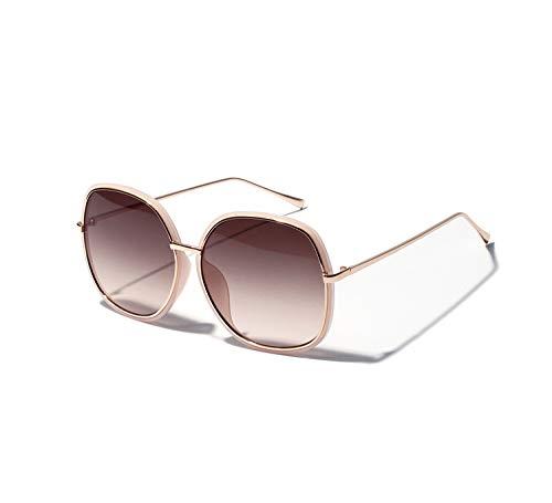 YLYZJH Damen Übergroße Sonnenbrille Frauen Gradient Sonnenbrille Uv400 Großes Gesicht Shades Schwarz Braun Objektiv Eyewear