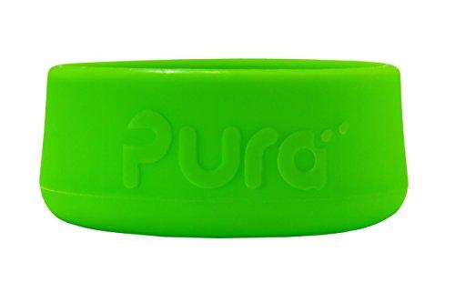 Pura Silikonstoßstange für Edelstahlflasche (ohne Kunststoff, zertifiziert ungiftig, ohne bpa) Packung à 3 Stück Frühlingsgrün 5 Unzen, 9 Unzen, 11 Unzen - 5-unzen-stück