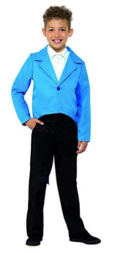Mädchen Olivia Kinder Kostüm - Halloweenia - Kinder Jungen Mädchen eleganter Frack Tailcoat Jacket Kostüm, perfekt für Karneval, Fasching und Fastnacht, 122-134, Blau