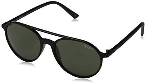 Pepe Jeans Herren Elias Sonnenbrille, Schwarz (Black/Green), 53.0