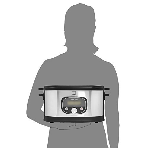 Sänger Premium Sous Vide Garer 520 Watt 6 Liter | Niedrigtemperatur-Garer bis zu 72 Stunden Garzeit einstellbar | Gebürstetes Edelstahlgehäuse | Temperaturbereich zwischen 40 - 90 °C - 4