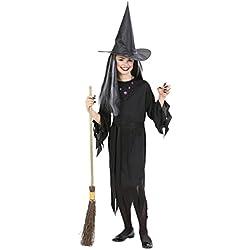Disfraz de halloween bruja para niña, talla 11-13 años.